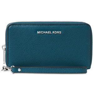 Michael Kors Teal zip around Leather wallet